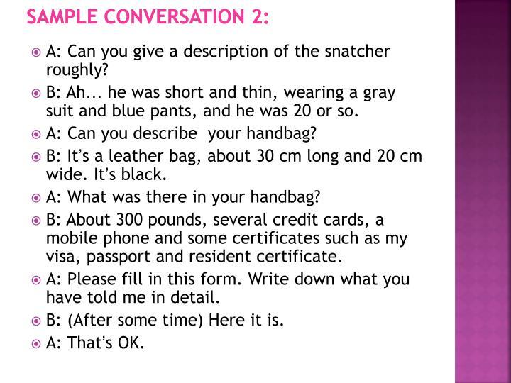 Sample Conversation 2: