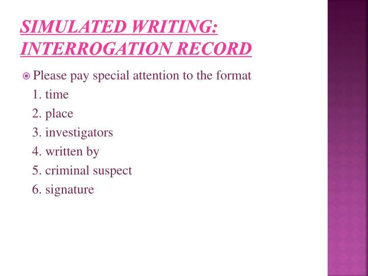 Simulated Writing: