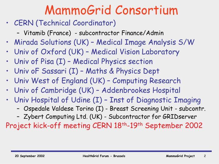 Mammogrid consortium