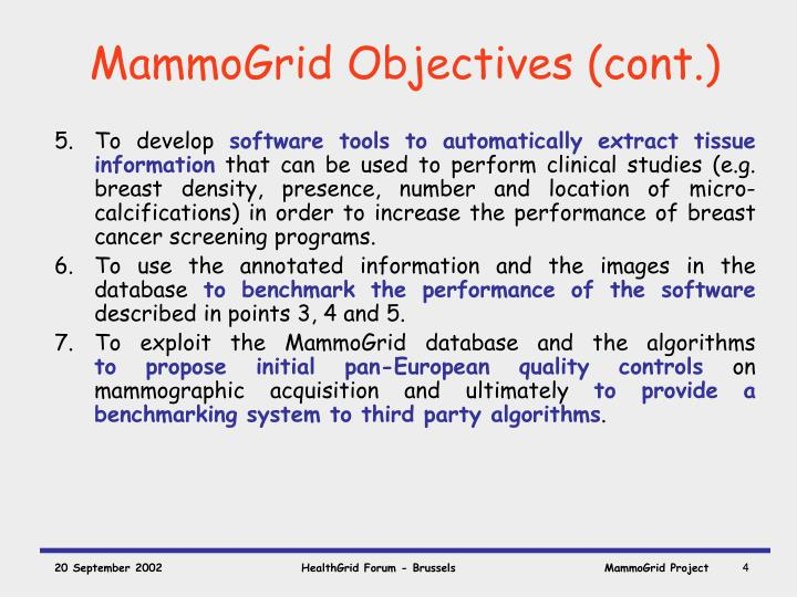 MammoGrid Objectives (cont.)