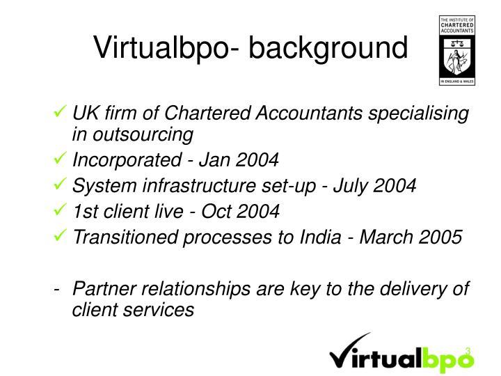 Virtualbpo background