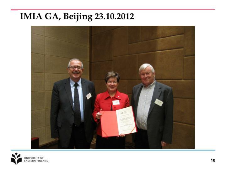 IMIA GA, Beijing 23.10.2012