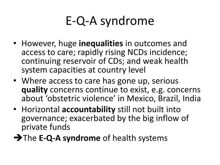 E-Q-A syndrome