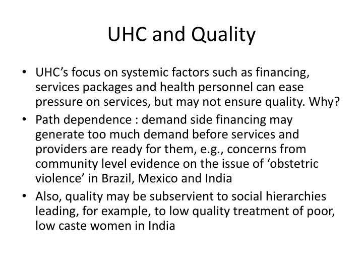 UHC and Quality