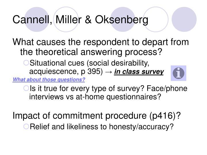 Cannell, Miller & Oksenberg