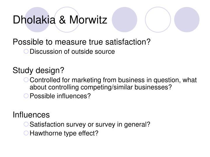 Dholakia & Morwitz