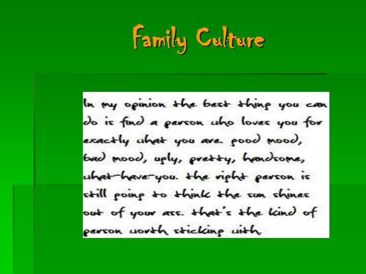 Family Culture