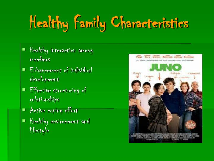 Healthy Family Characteristics