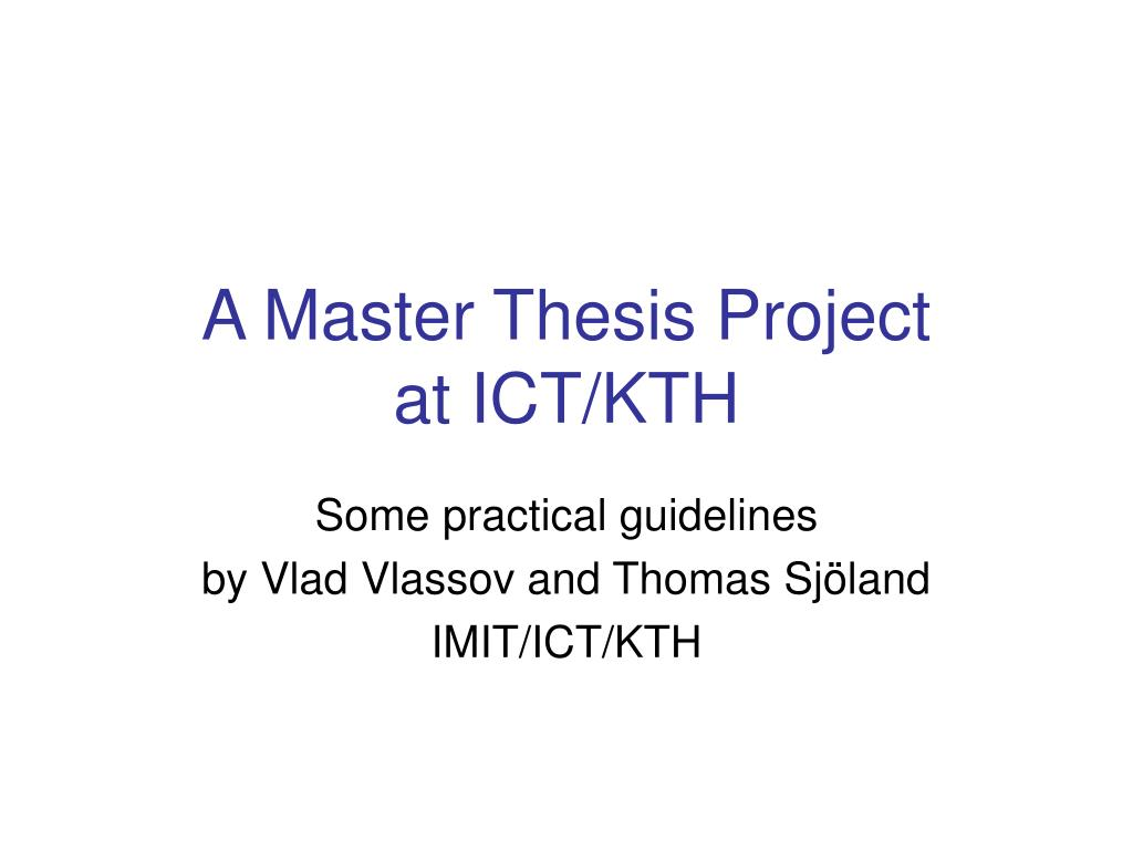 kth thesis template word