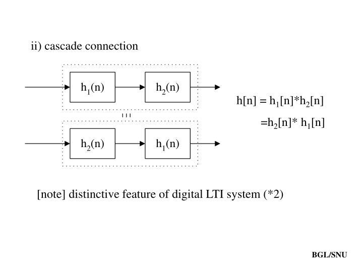 ii) cascade connection