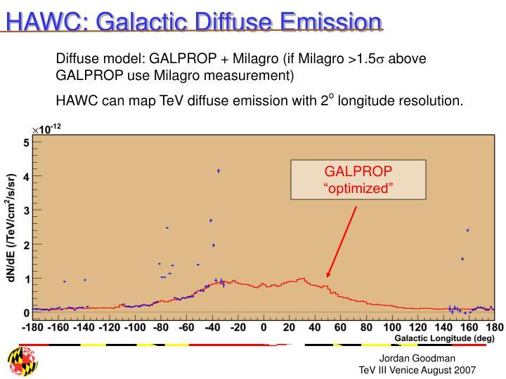 """GALPROP """"optimized"""""""