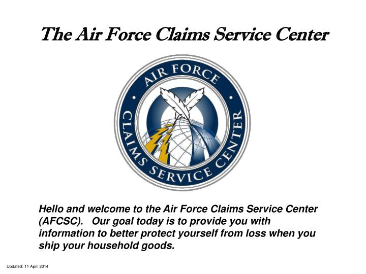 the air force claims service center n.