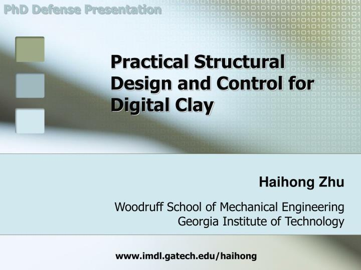 Practical structural design and control for digital clay