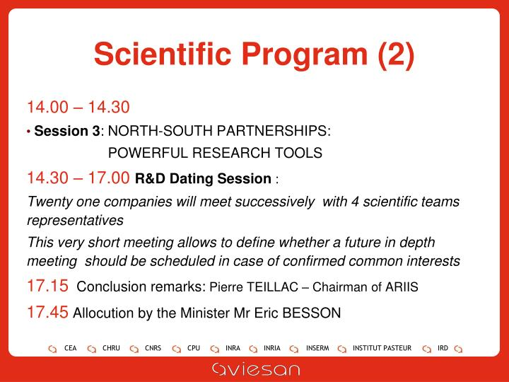 Scientific Program (2)