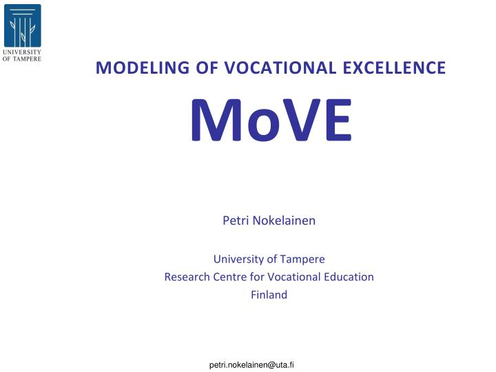 modeling of vocational excellence move n.