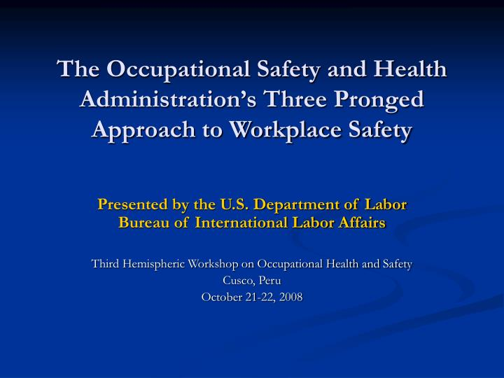 an introduction to the ohs occupational health and safety