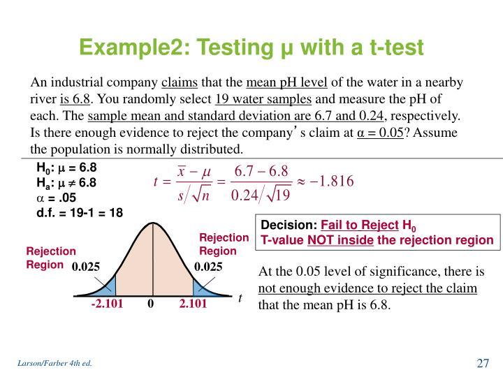 Example2: Testing