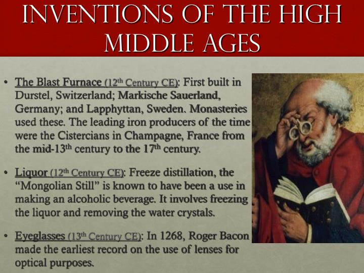Inventions Of The High Middle Ages