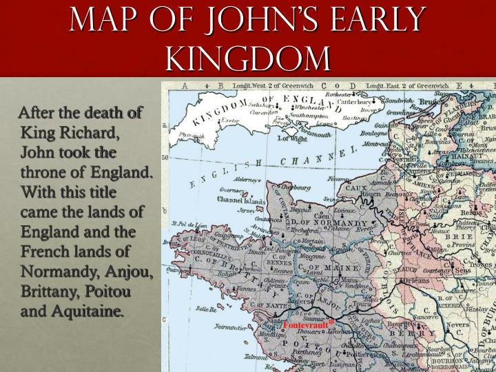 Map Of John's Early Kingdom