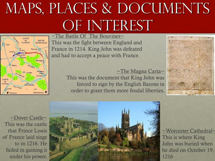 Maps, Places & Documents Of Interest