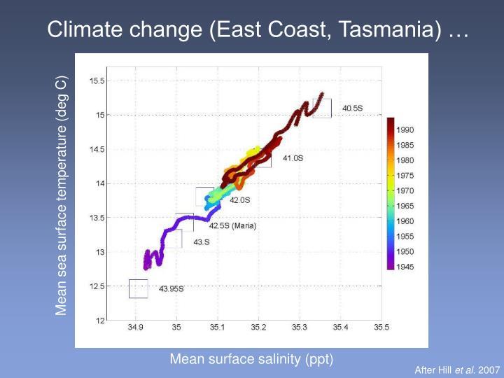 Climate change (East Coast, Tasmania) …