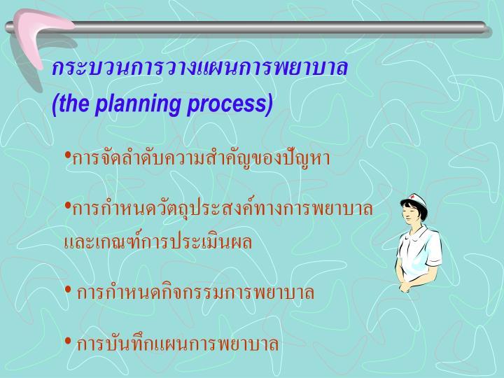 กระบวนการวางแผนการพยาบาล