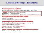 antiviral kemoterapi behandling