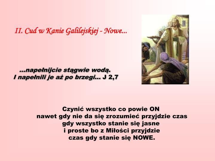 II. Cud w Kanie Galilejskiej - Nowe...