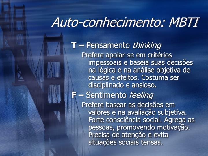 Auto-conhecimento: MBTI