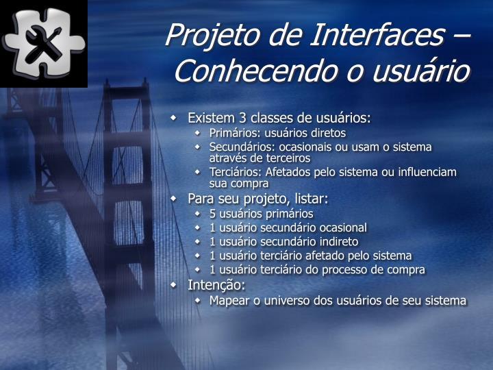 Projeto de Interfaces –