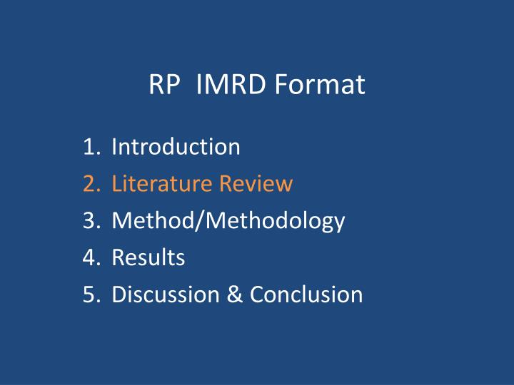 imrd report The imrd master course programme, is a high level academic programme aimed at training top students from all over the world into specialists in integrated rural development, focussed on socio-economic and institutional aspects not only from the european union but also from developed, developing and transition countries outside the eu.