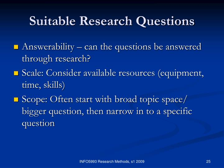 scaling in research methodology The methods section describes actions to be taken to investigate a research problem and the rationale for the application of specific procedures or techniques used to identify, select, process, and analyze information applied to understanding the problem, thereby, allowing the reader to critically evaluate a study's overall validity and reliability.