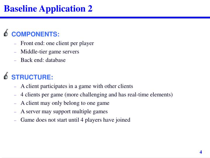 Baseline Application 2