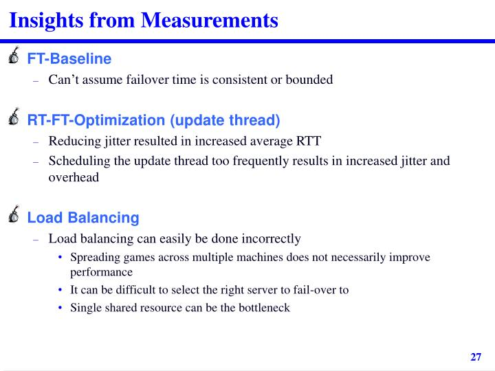 Insights from Measurements