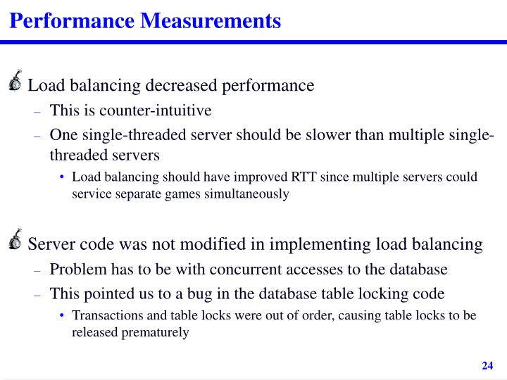 Performance Measurements