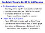 candidate ways to get ip to as mapping