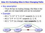 idea 2 excluding ases in non changing paths