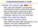 troubleshooting outside vs inside