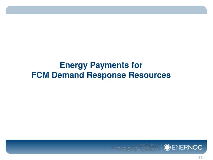Energy Payments for