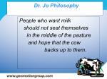 dr jo philosophy