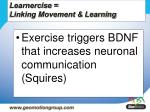 learnercise linking movement learning