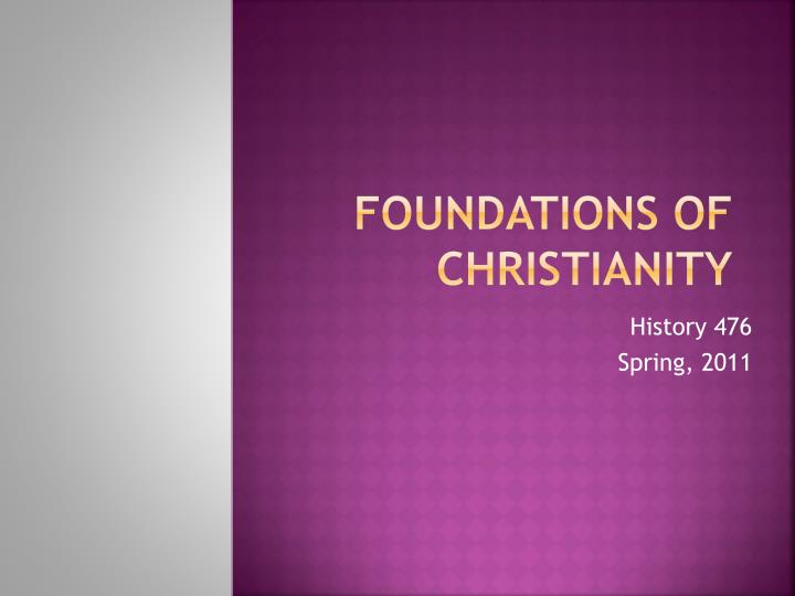 foundations of christianity n.