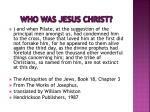 who was jesus christ1
