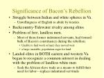 significance of bacon s rebellion