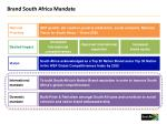 brand south africa mandate