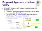 proposed approach uniform query
