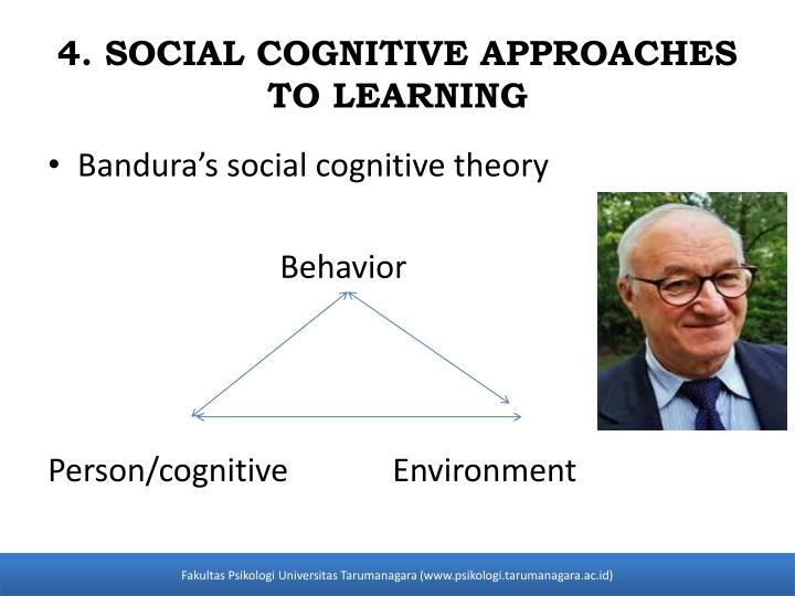 behavior and social cognitive approaches to Playing a different role than skinner in behaviorism's development, albert bandura explored his social learning theory, later called social cognitive theory (corey, 2009) his theory was, perhaps, the beginning of a bridge between behaviorism and cognitive-behavioral theory (corey, 2009.