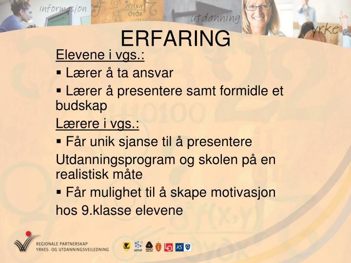 ERFARING