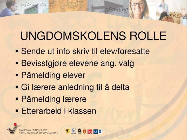 UNGDOMSKOLENS ROLLE