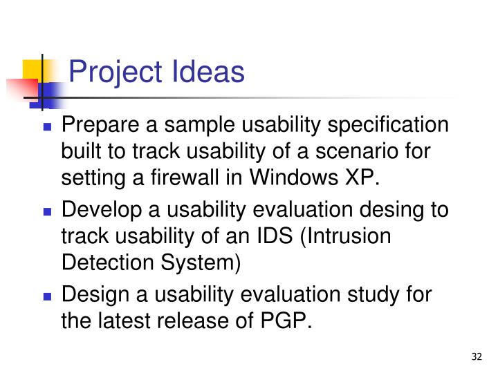 Project Ideas